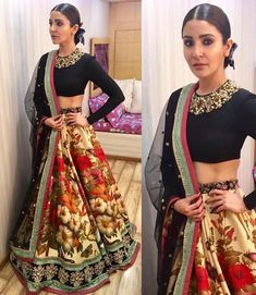 Lehenga choli wedding wear parry wear latest design floral print lehenga with designer border for womens Indian dress Indian skirt. Indian Lehenga, Lehenga Sari, Lehenga Choli Wedding, Bollywood Lehenga, Lehenga Style, Bollywood Fashion, Anarkali, Floral Lehenga, Sarees