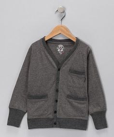 766b7dce9e Take a look at this Gray Study Hard Cardigan - Boys by 191 Unlimited on