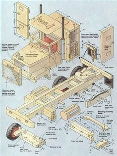 Wooden Truck Plans - Wooden Toy Plans #WoodworkingToys