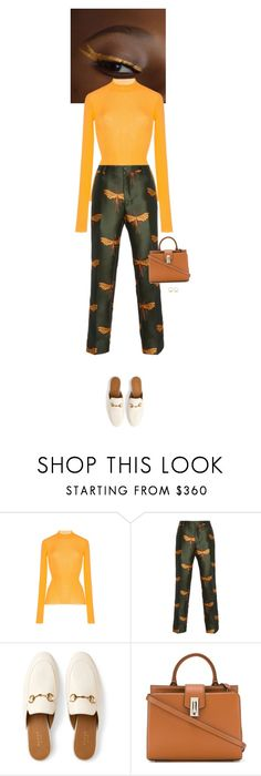 """""""Outfit of the Day"""" by wizmurphy ❤ liked on Polyvore featuring MSGM, F.R.S For Restless Sleepers, Gucci, Marc Jacobs, J.W. Anderson, ootd and gucci"""