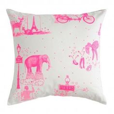 Twisted Toile de Jouy Cushion