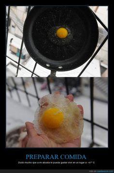 ¿Te has quedao' con hambre? ¿Te descongelo un huevo? - Dudo mucho que a mi abuela le pueda gustar vivir en un lugar a -41° C