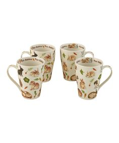 Take a look at this 'Run Rabbit' Mugs - Set of Four today!