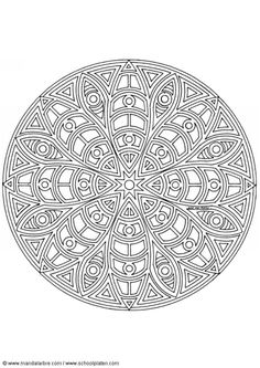 Coloring pages special mandala 312
