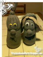 Creciendo con Darío: Manualidades: Sujetalibros con calcetines y arroz