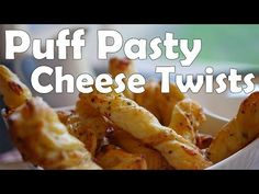 Super Easy Puff Pastry Cheese Twists - http://www.bestrecipetube.com/super-easy-puff-pastry-cheese-twists/