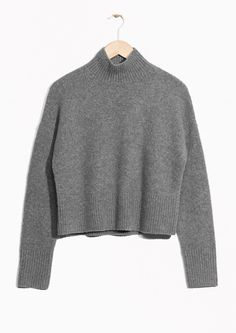 & Other Stories image 1 of Crop Sweater in Grey