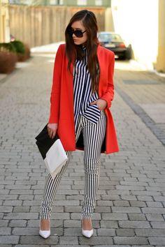 Stripes in Orange