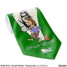 Moby Dick ~ Drunk Whaler ~ Herman Melville ~ Tie