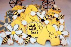 What will it bee? A fun baby shower for mommas who are waiting to find out what they're having.