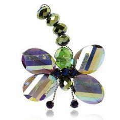 Glass Dragonfly Brooch