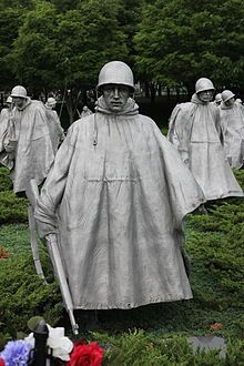 Korean War Veterans Memorial. I've been there in person and it is hauntingly beautiful