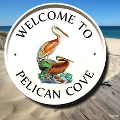 Personalized Signs for Home Pelican Outdoor by AddressPlaquesPlus