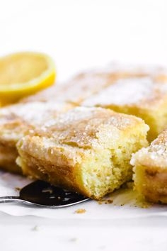 This lemon crunch cake is an old fashioned style breakfast or snack cake with a pillowy soft texture, bright lemon flavor, and a delightful crunchy top. #cake #lemon #coffeecake #snackcake #breakfastcake #recipe Crunch Cake, Breakfast Cake, Coffee Cake, Dessert Recipes, Desserts, Cake Recipes, Different Recipes, Let Them Eat Cake, Love Food