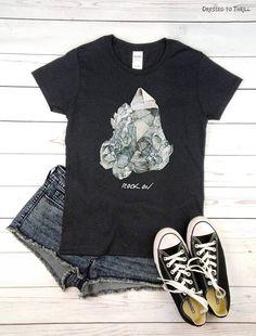 ROCK ON  crystal shirt yoga meditation new age witch