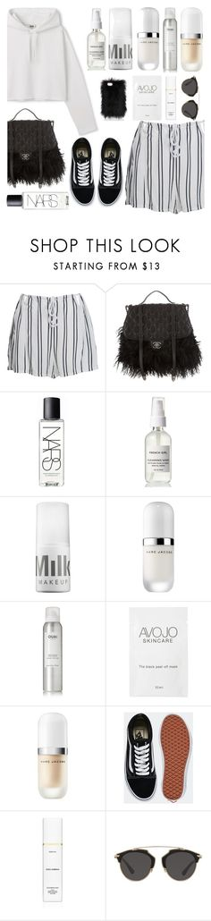 """""""Untitled #113"""" by georgialanexo ❤ liked on Polyvore featuring WithChic, Chanel, NARS Cosmetics, MILK MAKEUP, Marc Jacobs, Ouai, Vans, Dolce&Gabbana and Christian Dior"""
