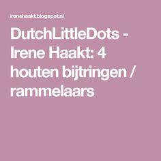 DutchLittleDots - Irene Haakt: 4 houten bijtringen / rammelaars