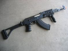 DE Ak-47S Metal Automatic Electric Airsoft Assault Gun 425 FPS Black by Double Eagle. $89.99. This is a Fully AUTOMATIC AEG with reinforced internals and full metal barrel and metal body. It shoots at Full Auto or Semi-auto mode. This weapon is 100% TOKYO MARUI OEM REPLICA AK47 AEG Rifle featured with metal body and metal gears, fully adjustable hop-up. Classic black - beautifully finished - ideal for collection! NIB comes with battery, charger, instructions, bbs and a 400-r...