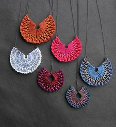 Smocked necklaces