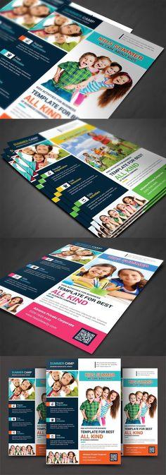 Best Kids Summer Camp Flyer Print Templates   Flyer