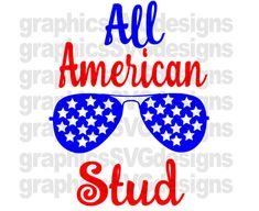 All American Stud 4Th Of July SVG Patriotic Svg  by SukiesDesigns
