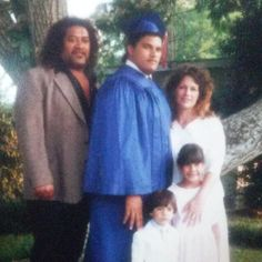 Matt Anoa'i with his dad, mom, sister and his little brother ( The adorable Joe Anoa'i ). :)