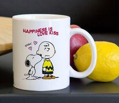 Charlie Brown Snoopy Happines Love Funny Tea Coffee Ceramic Mug 11oz