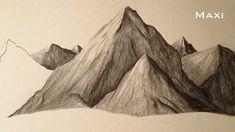 Cómo dibujar montañas a lápiz paso a paso, cómo aprender a dibujar paisajes …
