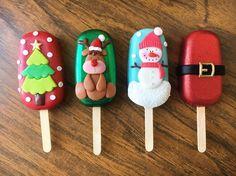 u know kal mai ek orpanage jana wala ha hu donation dena ka liya maybe wheelchair n food Christmas Cake Pops, Christmas Sweets, Christmas Baking, Christmas Cookies, Christmas Tree, Box Noel, Paletas Chocolate, Magnum Paleta, Cute Desserts