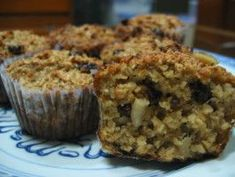 Oatmeal Muffins (No Flour at All!) I grinded half the oats, used less honey and subbed in greek yogurt for milk (1/2 c pluss water to 3/4c) Also subbed in apple sauce for oil :)