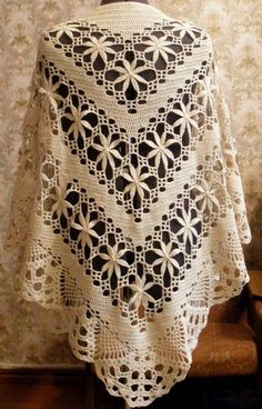 Shawl Crochet Yarn Stylish in Wonderful Pattern | Crochet Patterns