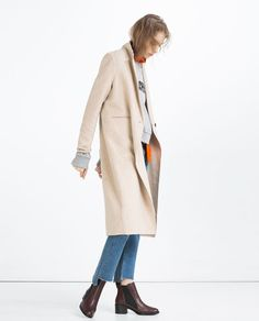 Image 1 of HAND MADE MASCULINE COAT from Zara