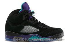 new concept d84f5 c032c 136027-007 Air Jordan 5 Grapes Black New Emerald-Grape Ice-Black (Women Men)  2016 Retro