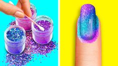 Nail Art Designs Videos, Nail Art Videos, Diy Nail Designs, Acrylic Nail Designs, Awesome Nail Designs, Acrylic Nails, Girls Nail Designs, New Nail Art Design, Nail Design Video
