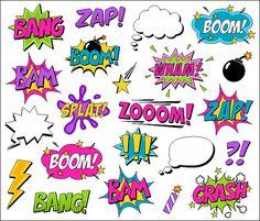 Superhéroe chica Comic Clipart libro Clip Art Comic por YarkoDesign