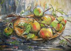 Appels op schaal, gemengde techniek