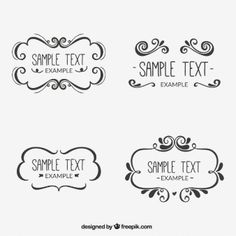Ornamental frames Handwriting, Free Frames, Vector Free, Elegant Logo, Journal Template, Icon Font, How To Draw Hands, Diy Letters, Book Journal