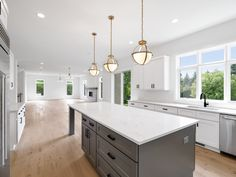 9 Space-Enhancing Ideas For Your Galley Kitchen Remodel Gray Kitchen Cabinets galley ideas kitchen Remodel SpaceEnhancing Shaker Kitchen Cabinets, Farmhouse Kitchen Island, Kitchen Cabinet Colors, Best Kitchen Design, Rustic Kitchen Design, Kitchen Designs, Gray And White Kitchen, Gold Kitchen, Kitchen Floor