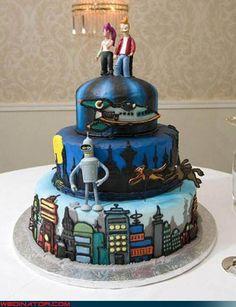 Futurama nerd cake design