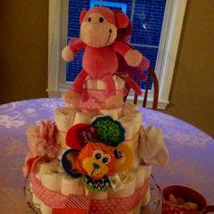 Baby shower diaper cake!
