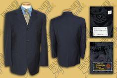 Alexander McQUEEN Zegna ELECTA Men s Navy 3-buttons Suit JACKET BLAZER s: 38 Reg 3 Button Suit, Office Wear, Blazer Jacket, Dress To Impress, Alexander Mcqueen, Buttons, Suits, Navy, How To Wear