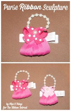 Purse Ribbon Sculpture - The Ribbon Retreat Blog