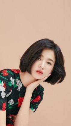 Asian Short Hair, Girl Short Hair, Song Hye Kyo Style, Song Hye Kyo Hair, Shot Hair Styles, Hairstyles With Bangs, Hair Inspo, Hair Goals, Asian Beauty