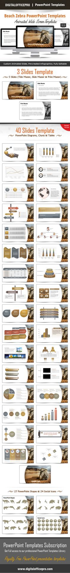 Virtual beauty powerpoint template backgrounds beach zebra powerpoint template backgrounds toneelgroepblik Image collections
