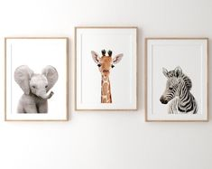 Safari nursery art for baby, PRINTABLE nursery art, Zoo animal prints, Baby room art, Nursery wall a Baby Room Art, Nursery Wall Art, Nursery Decor, Baby Bedroom, Nursery Poem, Jungle Bedroom, Safari Nursery, Animal Nursery, Safari Room
