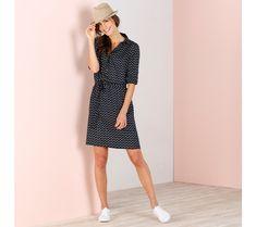 Košilové šaty s rukávy na ohrnutí | blancheporte.cz #blancheporte #blancheporteCZ #blancheporte_cz #moda #fashion #exkluzivni #exclusive