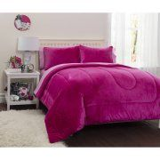 Latitude Pink Royal Plush Reverse to Sherpa Bed in a Bag Bedding Comforter Set Image 1 of 1