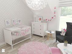 Pokój Julki - Średni pokój dziecka dla dziewczynki dla niemowlaka, styl skandynawski - zdjęcie od JMJ Interiors