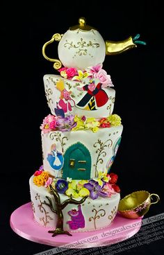 @KatieSheaDesign Likes--> #Cake Another intricate Alice cake. By Design Cakes