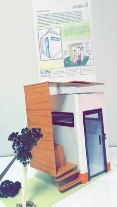 Maqueta en escala, caseta de seguridad. Taller de diseño II